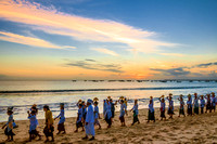 Religious Celebration at Sunset, Bali, Indonesia