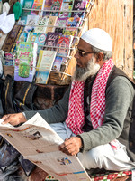 He sales magazines and newspapers at Jama Masjid, Delhi