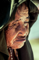 An old woman in Finning Island, Kiribati