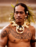 A local young man in Nuku Hiva, French Polynesia